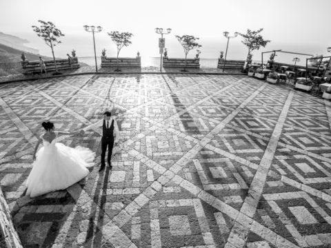 matrimonio in bianco nero